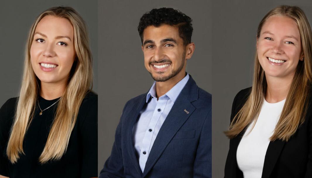 Kristin Ødegård, Arman Hiwa og Anne Cathrine Skinmo utgjør det sjette trainee-kullet for EINR. Mastergrad er et krav.