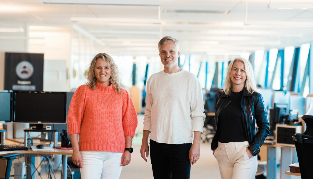 Daglig leder Hege Oustad, CTO Are Meisfjord og produktsjef Lise Ekanger i Tripletex lanserer logistikkmodul, som første norske skybaserte leverandør av ERP-systemer i SMB-markedet.