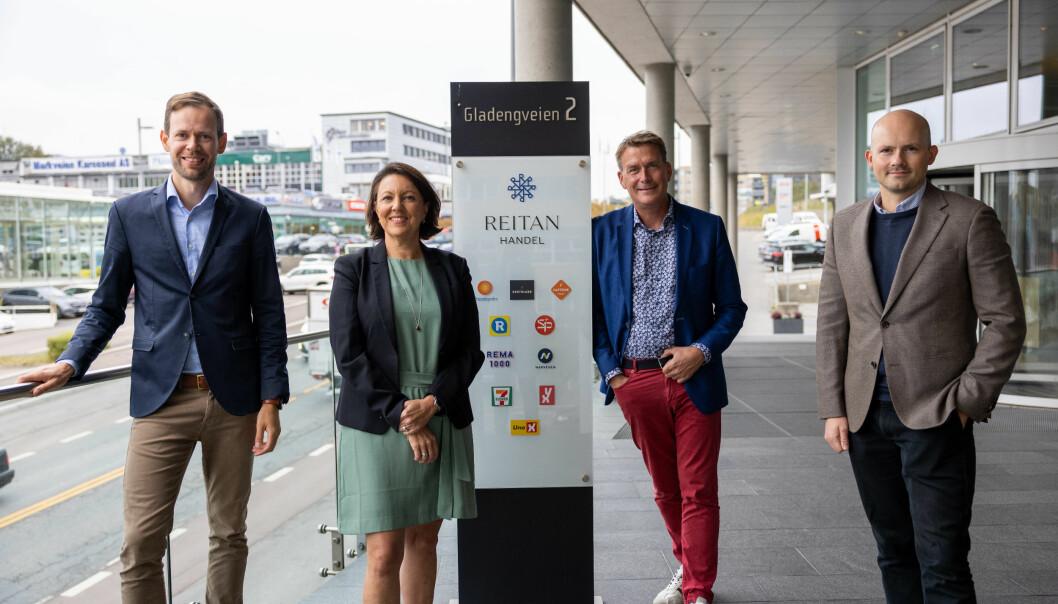 Med tre nyansettelser vil REITAN Handel Fra v.: Øyvind Breivik, Inger Sethov, Kårstein Eidem Løvaas, Stian Valla Tarldsvik