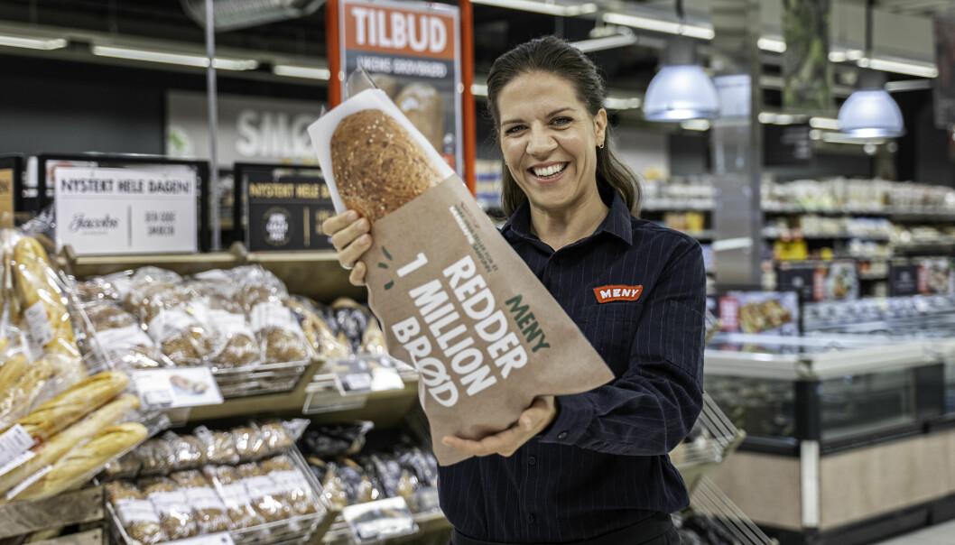 - Lykkes vi med å oppnå en reduksjon på minst 30 prosent gjennom et helt år, vil det tilsvare en million sparte brød, sier Mari Kristine Kasbo, kategoriansvarlig bakeri i MENY.