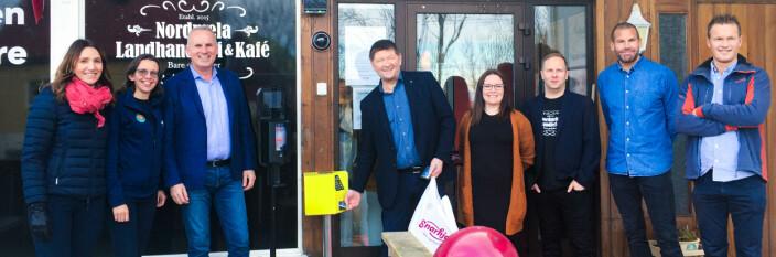 Åpnet første høyteknologiske dagligvarebutikk i Nord-Norge