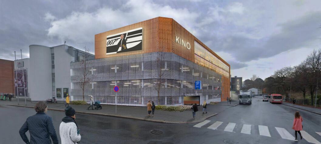 Vil bli flerfunksjonelt senter med fem kinoer oppå parkeringshuset